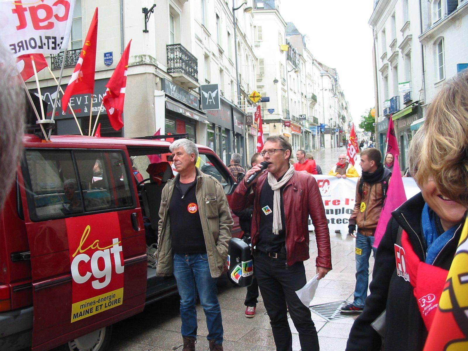 Quelques photos de la manifestation unitaire Angevine.