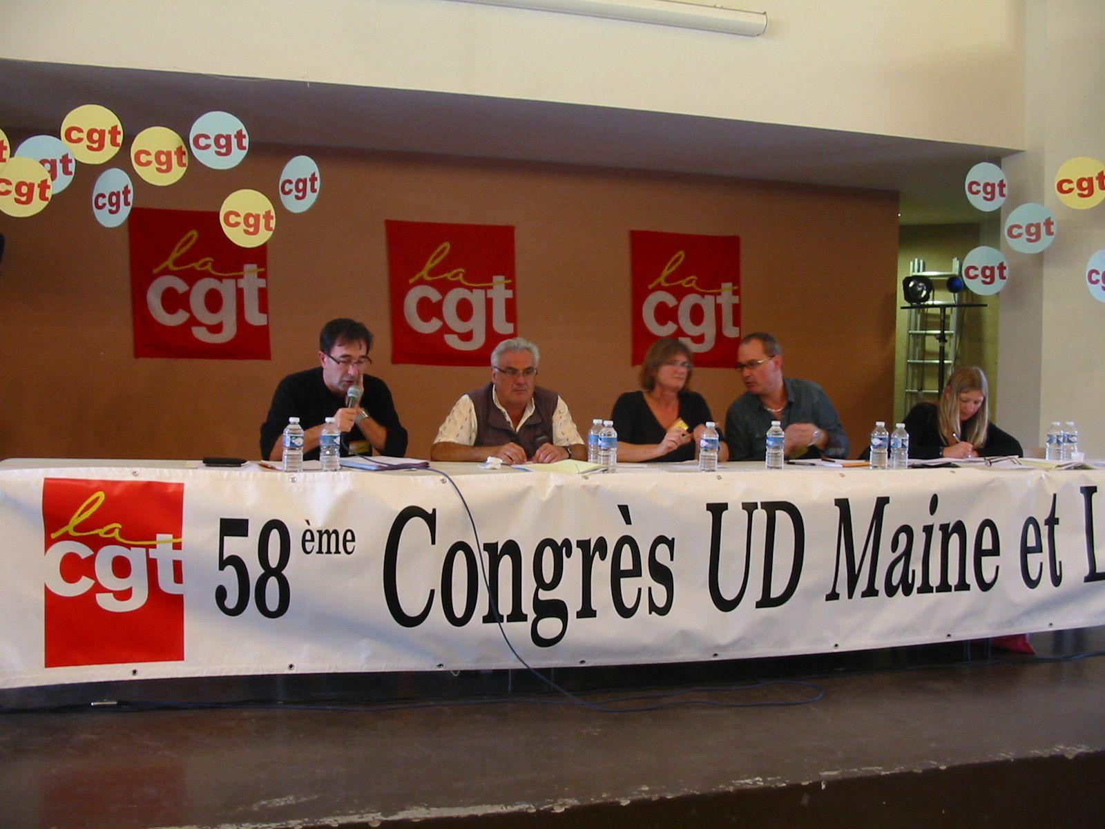En attendant plus d'information sur le 58ème congrès de l'Union Départementale Cgt du Maine & Loire qui s'est déroulé à Bagneux près de Saumur voici quelques photos.