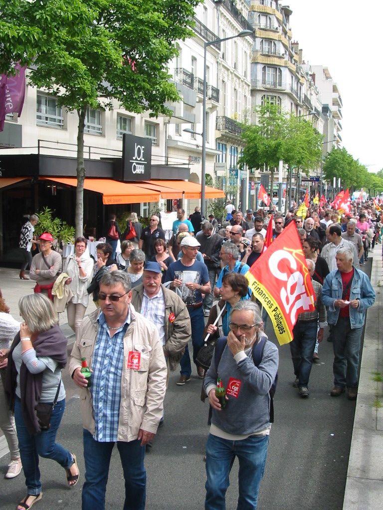 Les photos de la manifestations d'Angers: