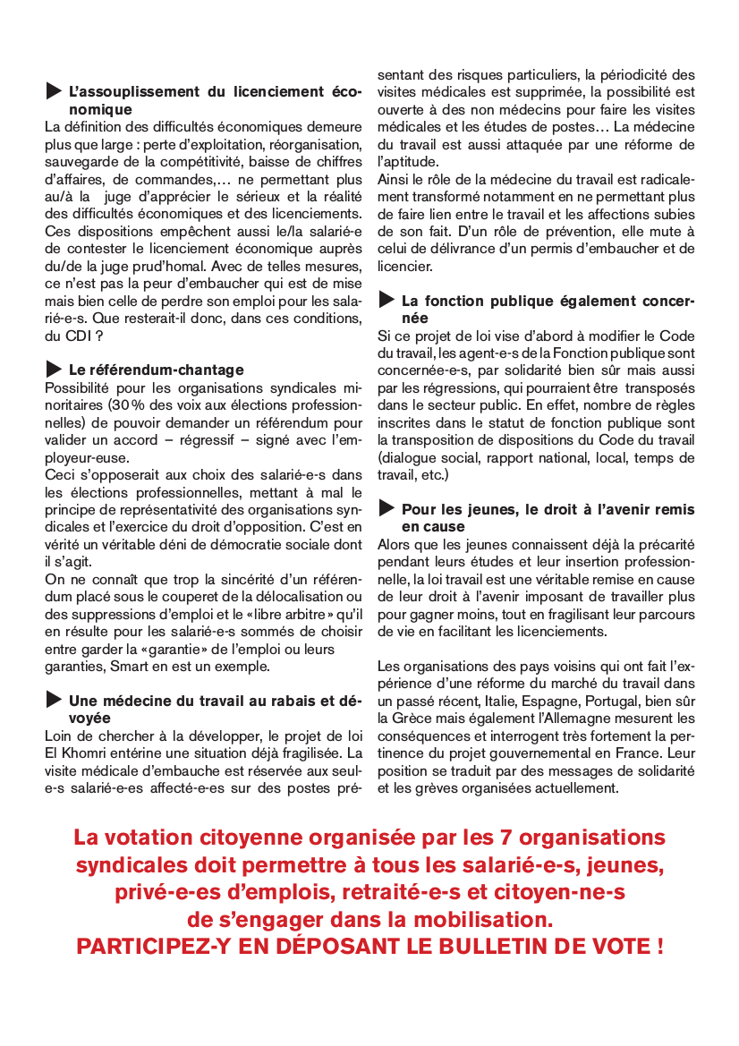 Le tract.