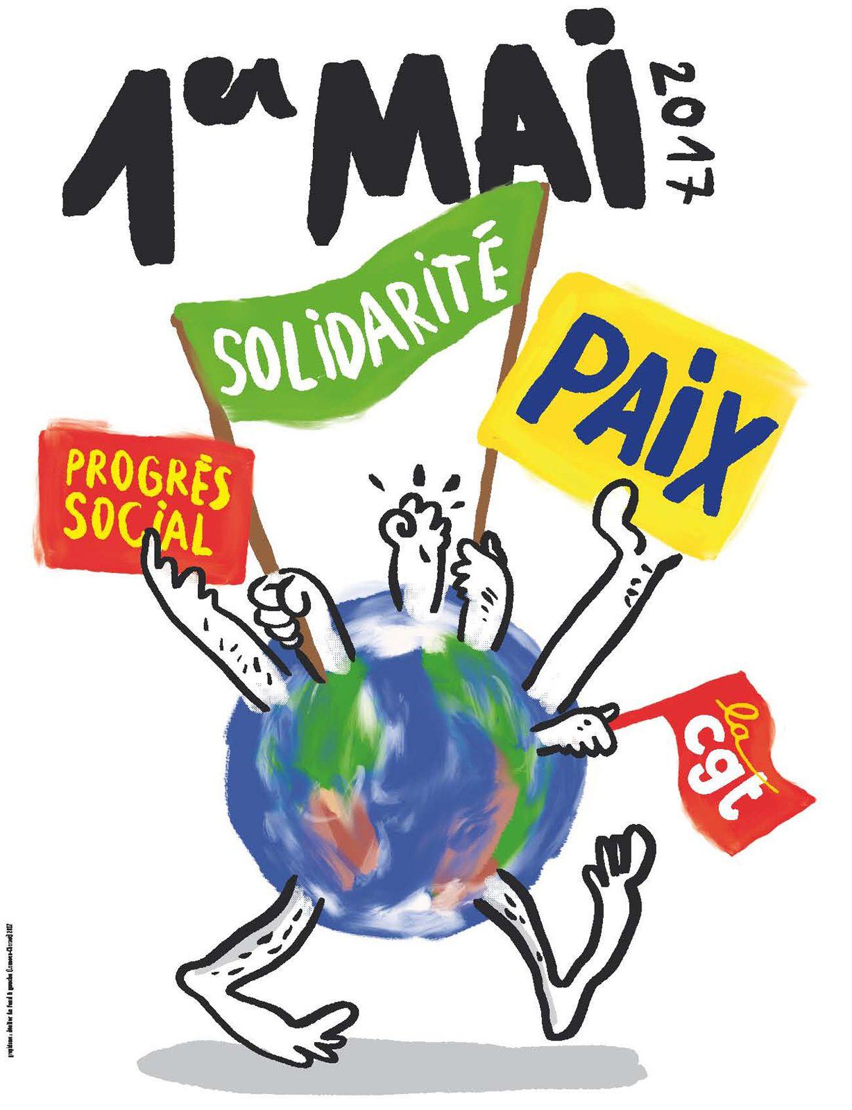 1er mai 2017: Manifestations dans le Maine &amp&#x3B; Loire.