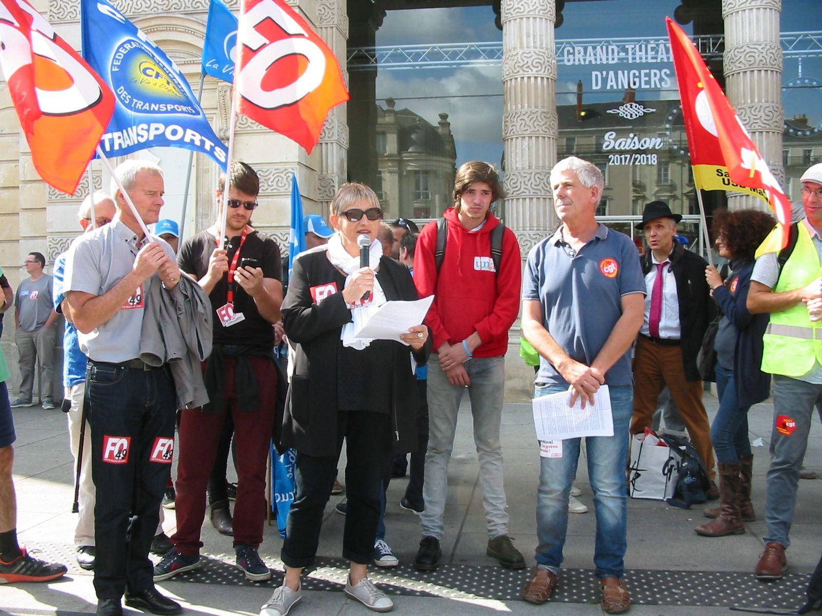Manifestation du 12 septembre dans le Maine &amp&#x3B; Loire