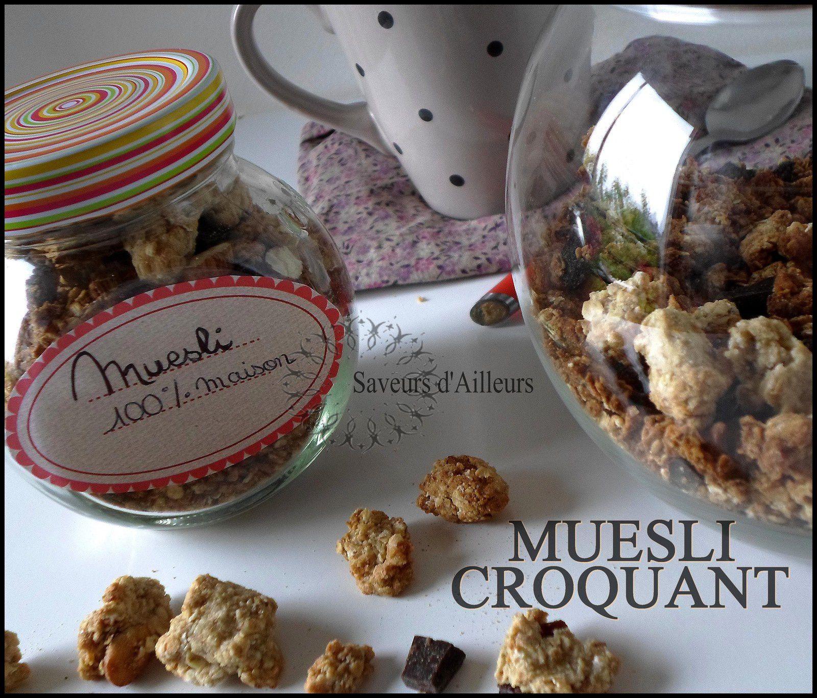 Muesli croquant aux fruits secs / chocolat