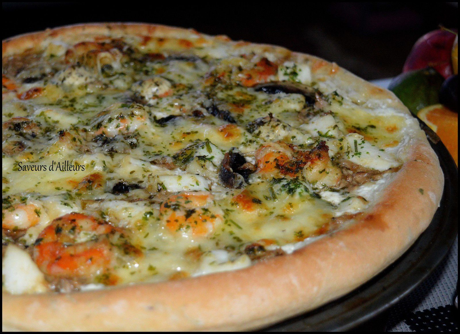 Pizza blanche des mers : Ultra Moelleuse