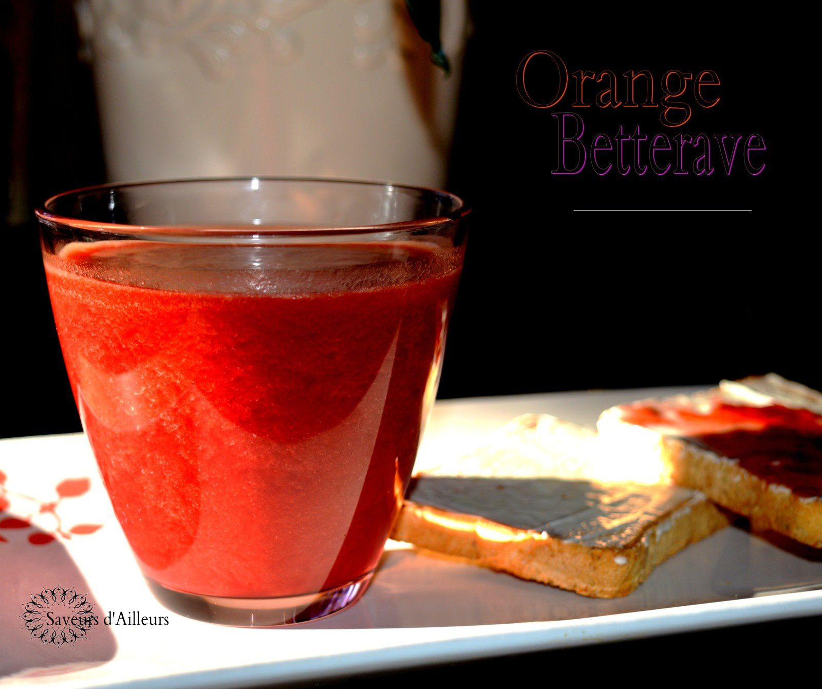 ✿ Smoothie orange betterave