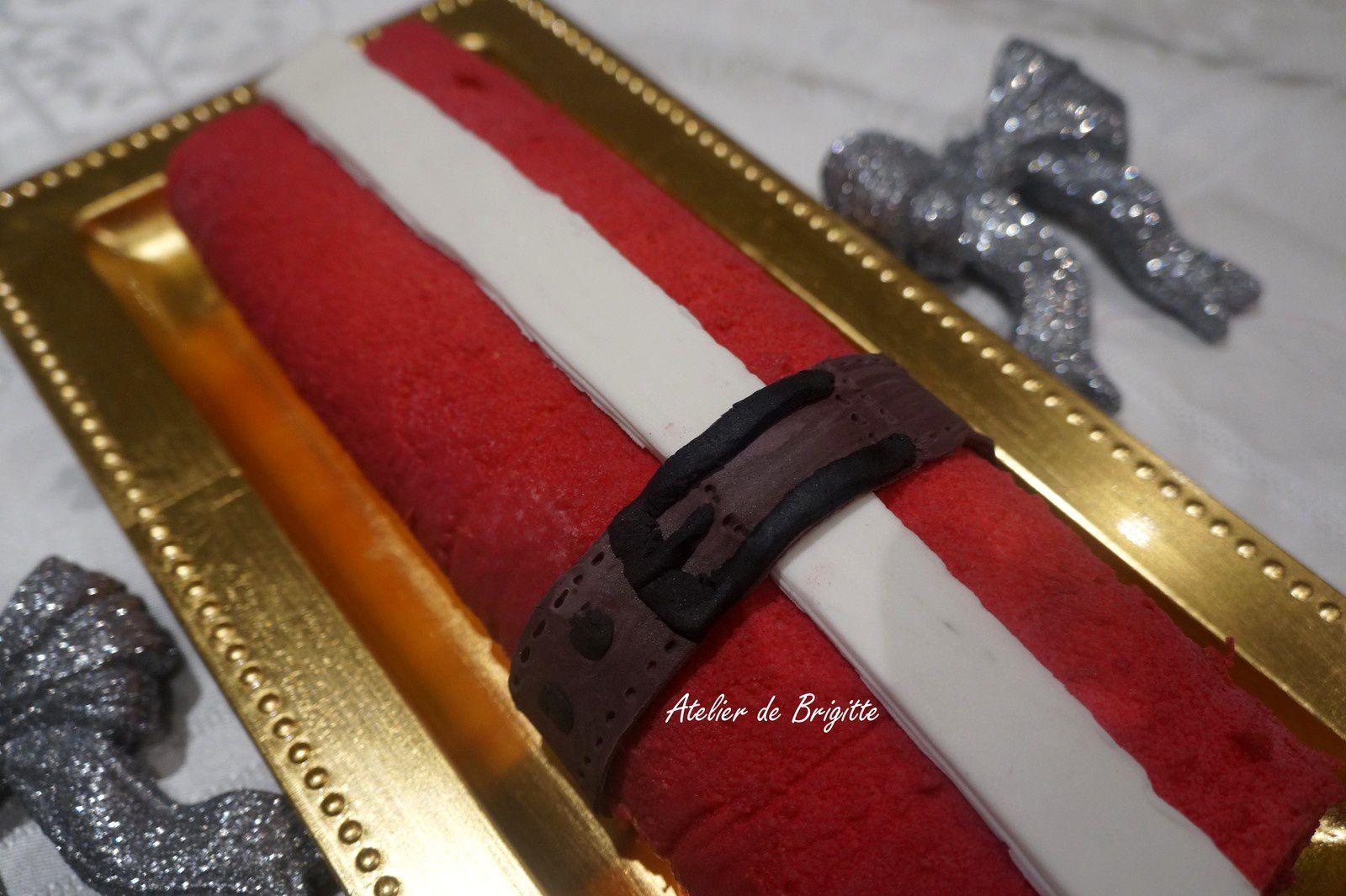 HÔ HÔ HÔ Bûche chocolat caramélia-clémentines