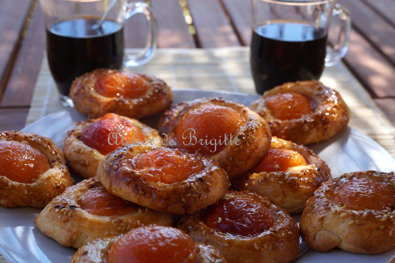 Briochettes aux abricots