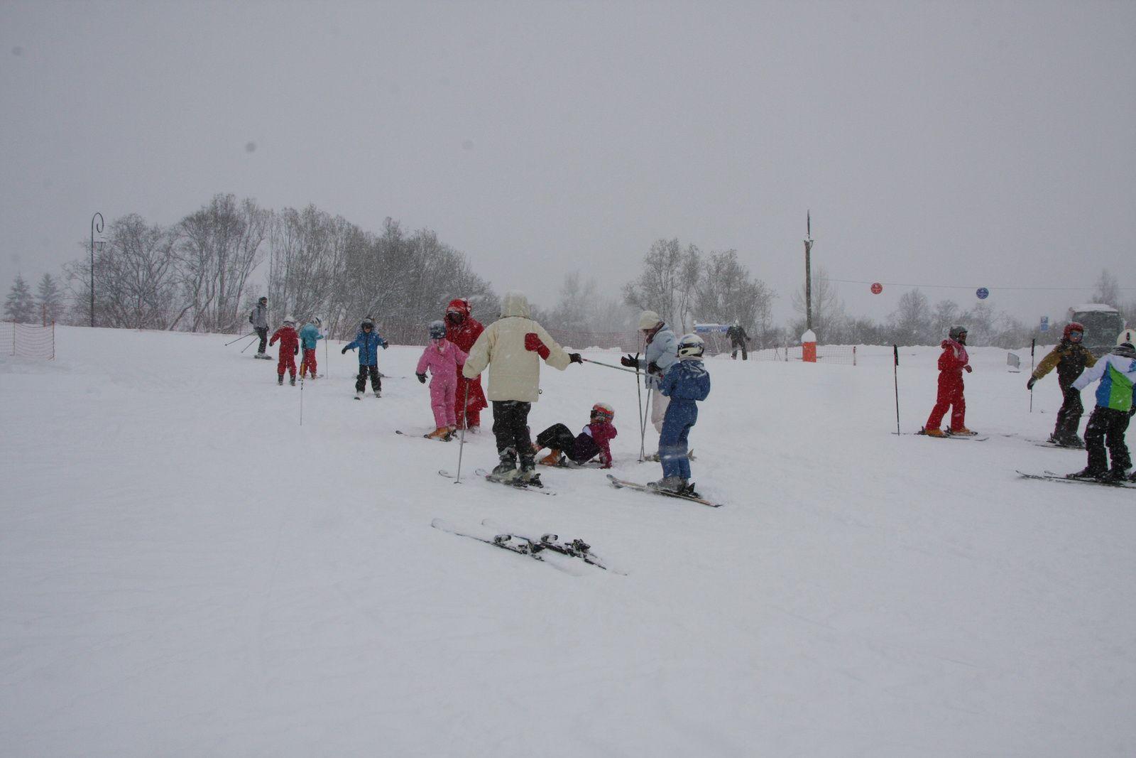 La première journée de ski