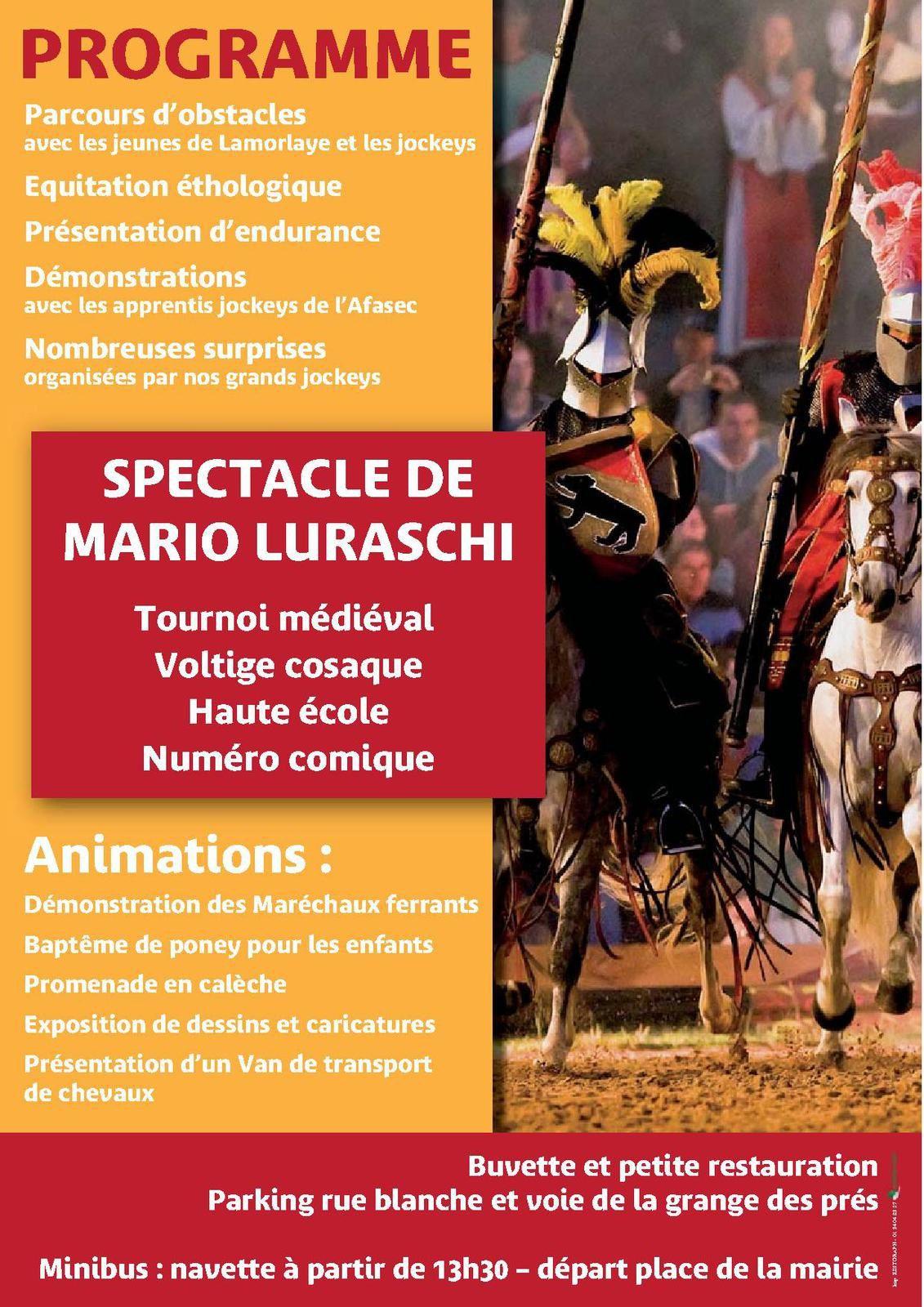 Programme Fête du Cheval de Lamorlaye.