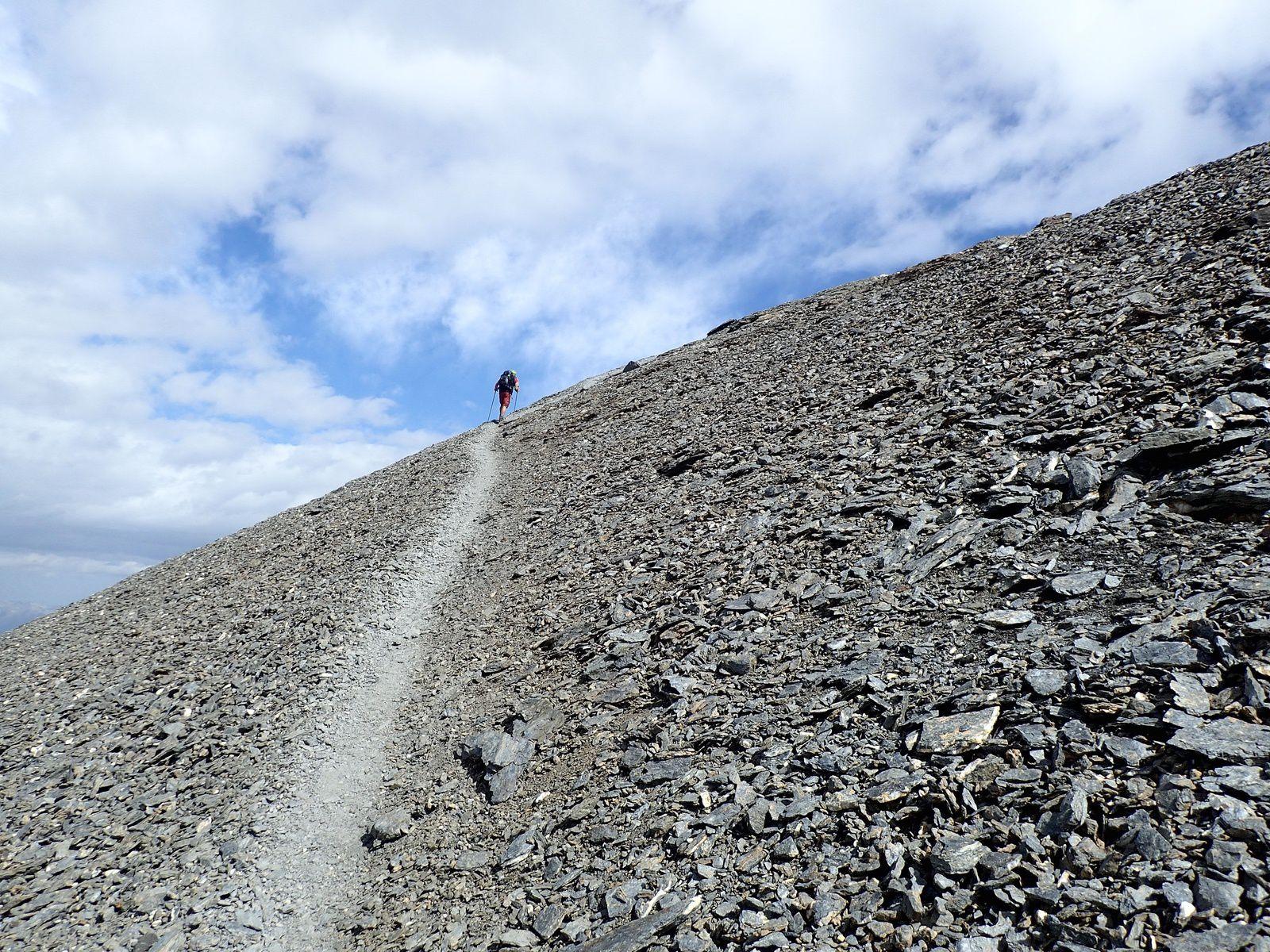 Ussers Barrhorn: Voie normale&#x3B; versant Ouest et Arête Sud 2/2