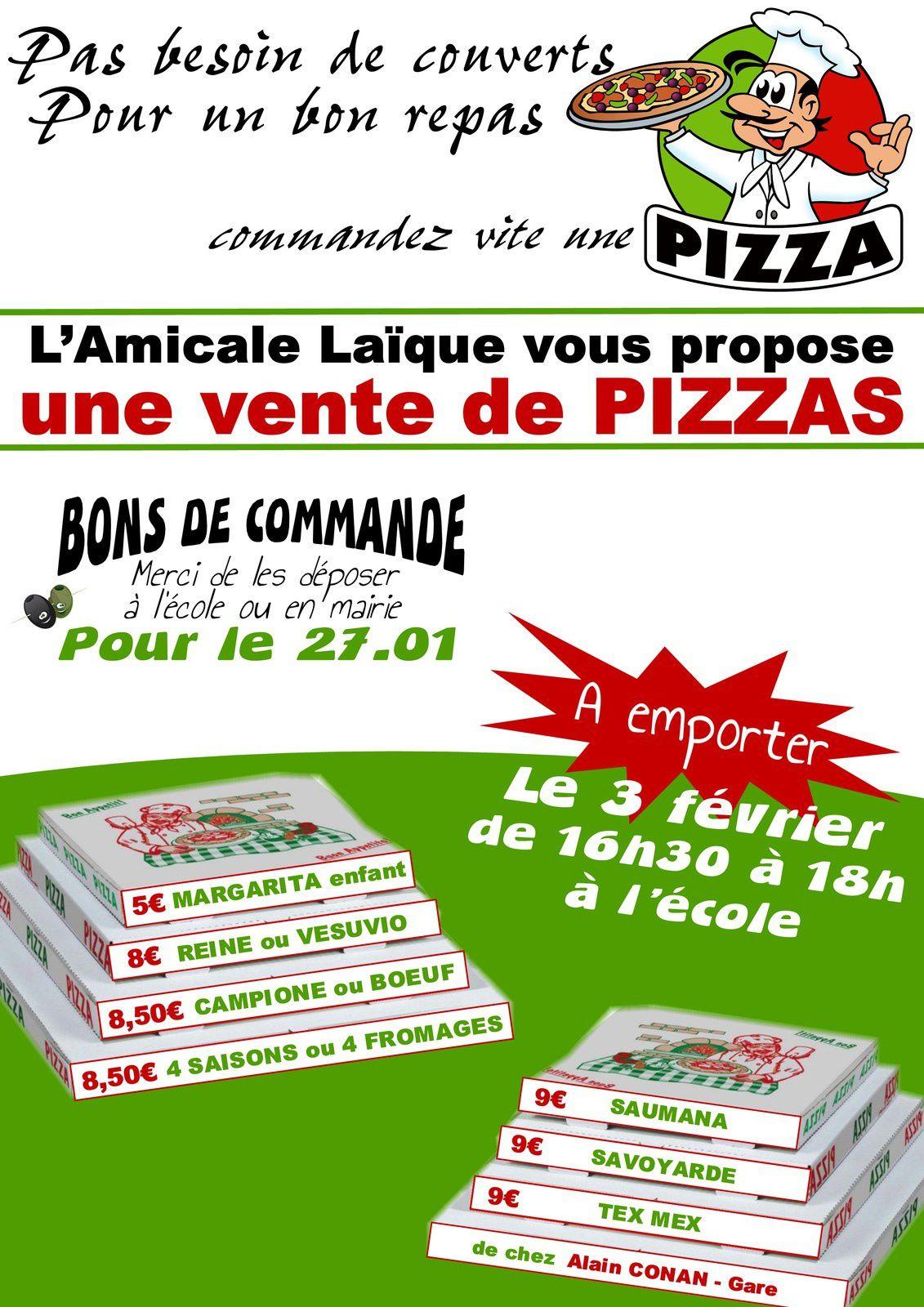 ➤ N'hésite pas, commande vite ta pizza !