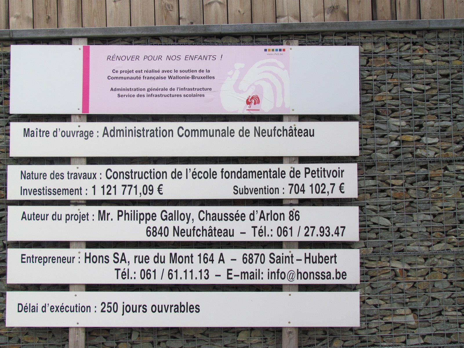 Inauguration de l'école de Petitvoir