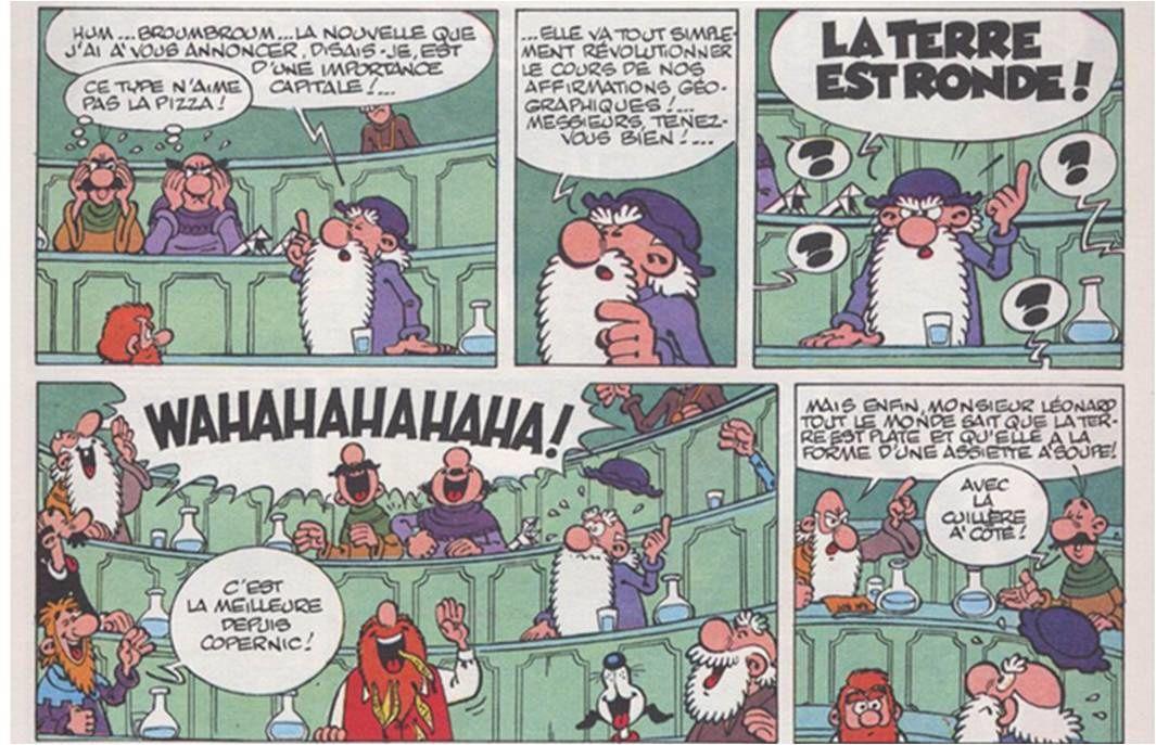 """""""Léonard, génie en balade"""", Turk et de Groot, Dargaud."""