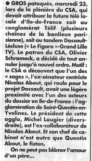 Le Canard enchaîné, 30 mars 2016