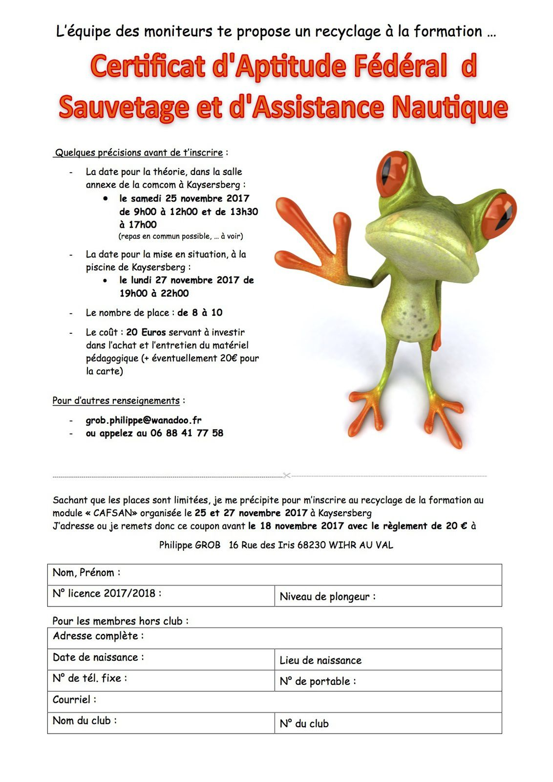 Recyclage cafsan