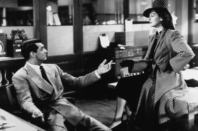 HIS GIRL FRIDAY (La Dame du vendredi) – Howard Hawks (1940) – Cary Grant, Rosalind Russel, Ralph Bellamy