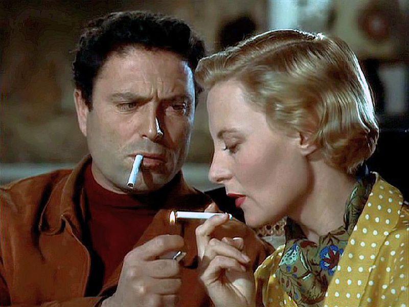 Obsession Jean Delannoy (1954) avec  Michèle Morgan et Raf Vallone