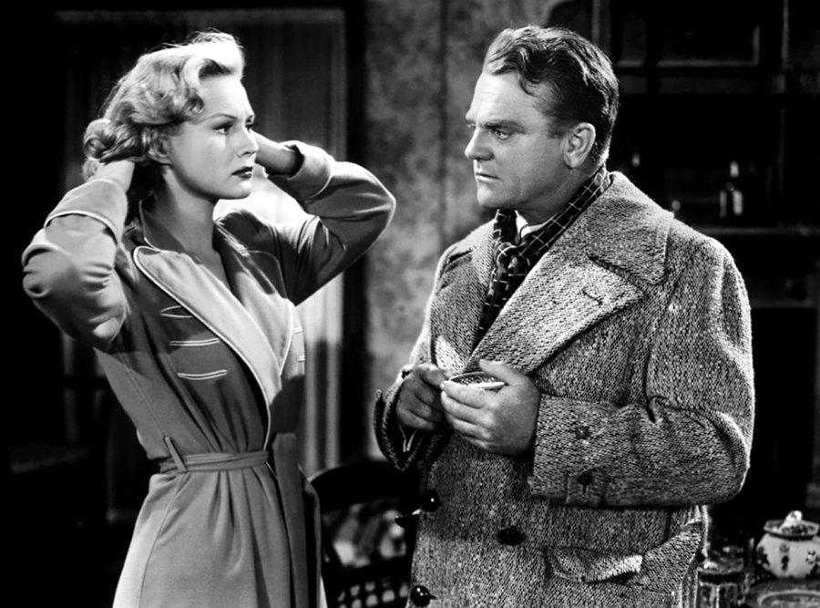 Virginia Mayo et James Cagney dans White Heat (L'enfer est à lui) de Raoul Walsh (1949)