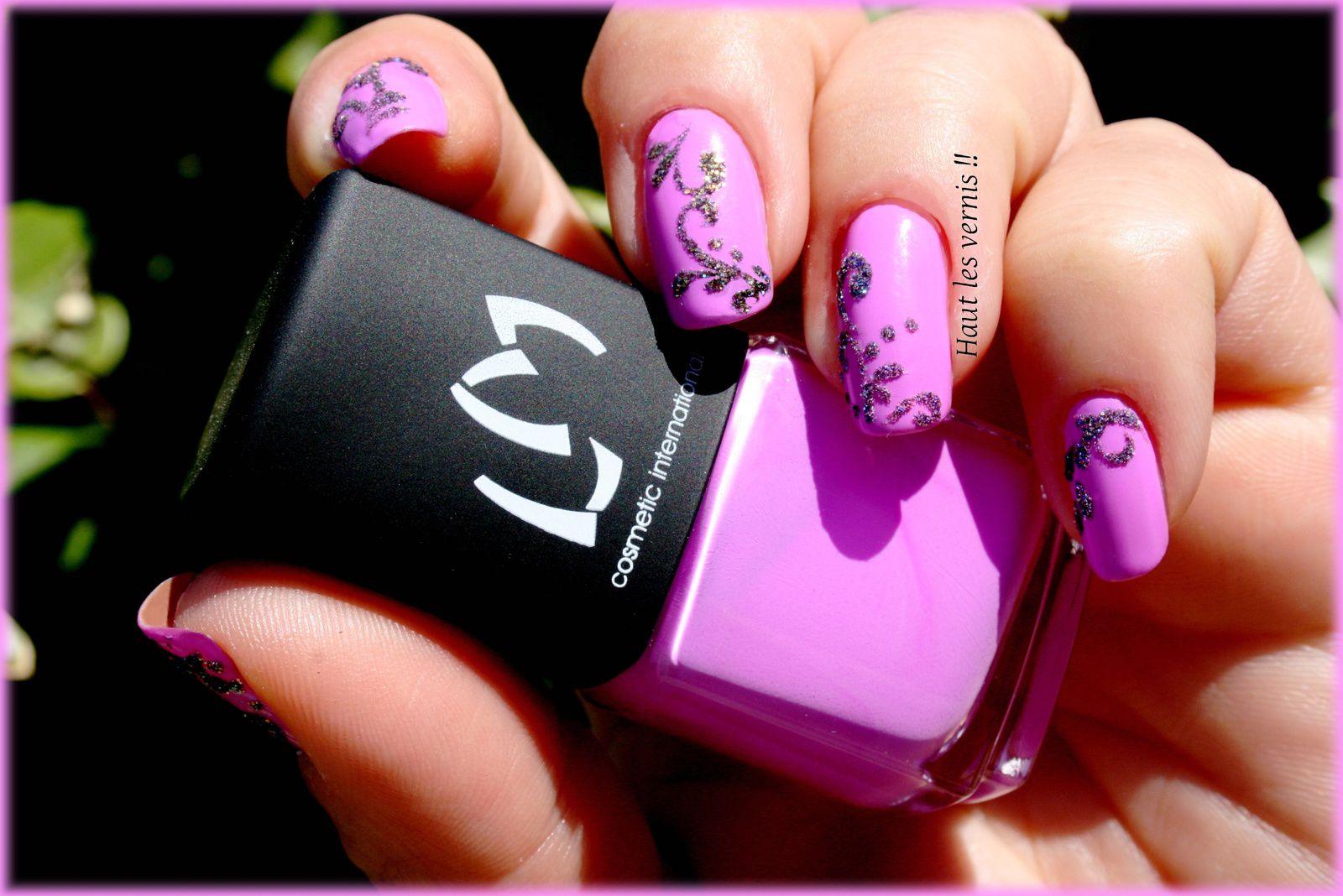 nail art effet sucre Lm cosmétic