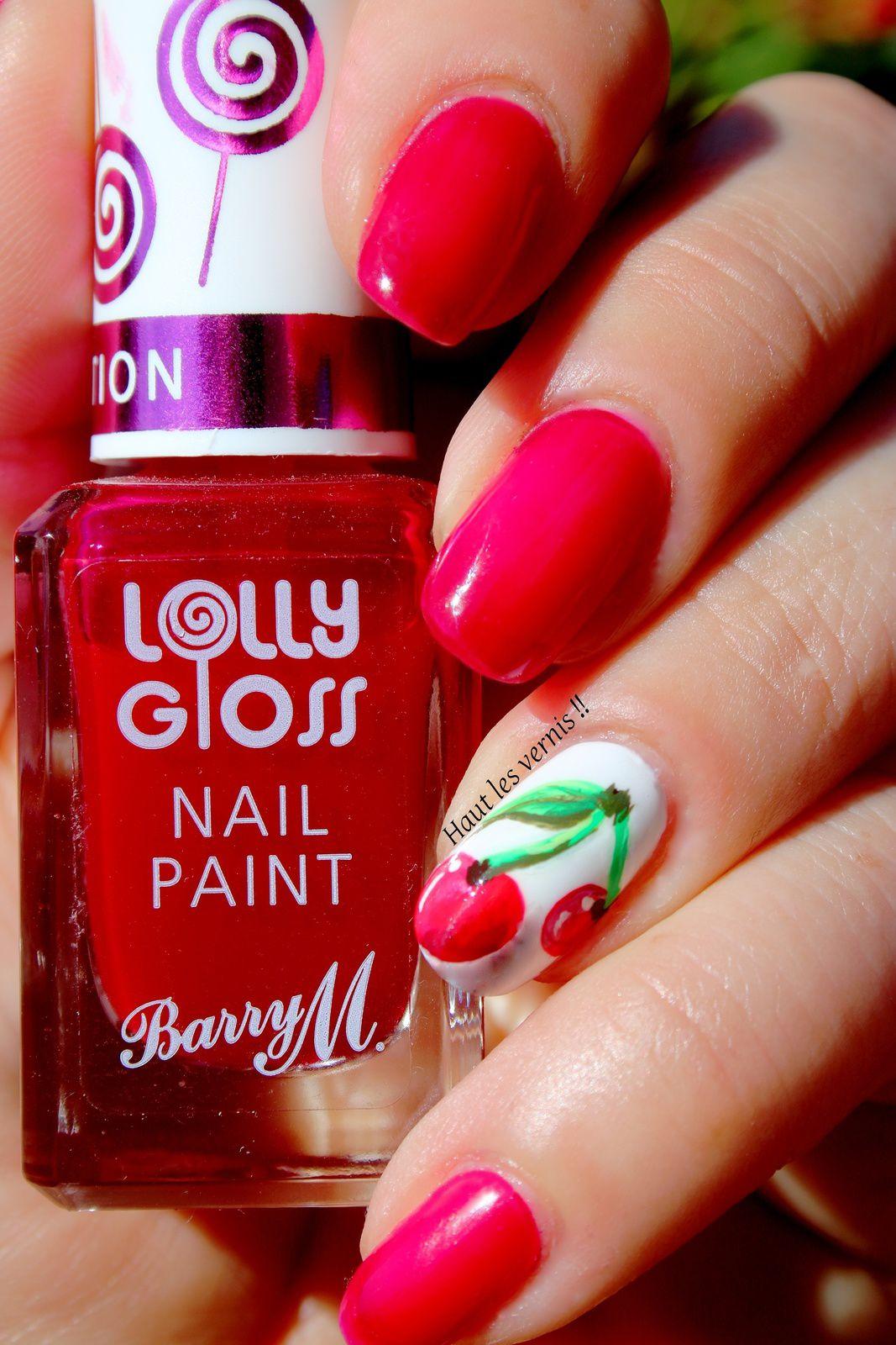 focus sur le Barry M lolly gloss Cherry drop