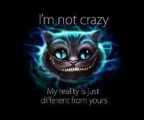 Je ne suis pas fou, ma réalité est juste différente de la votre