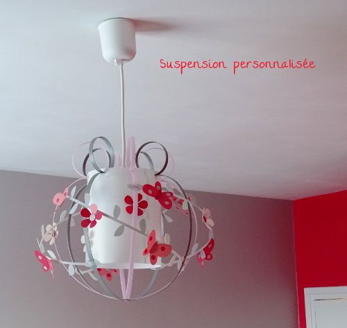 Suspension papillon luminaire chambre enfant lampe for Suspension chambre d enfant
