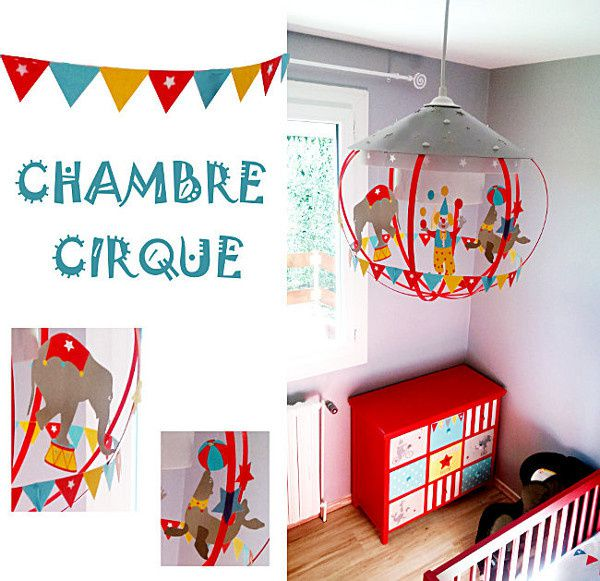 beautiful dcoration chambre enfant cirque with casse noisette luminaire. Black Bedroom Furniture Sets. Home Design Ideas