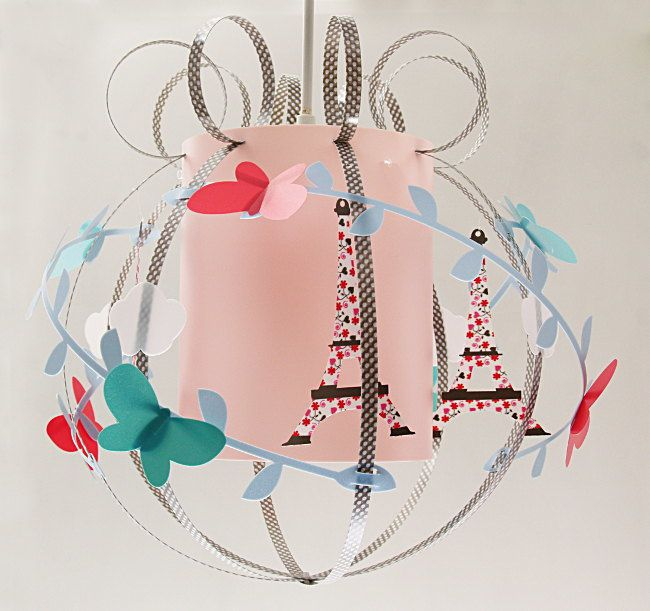 Suspension tour eiffel luminaire enfant lampe casse for Suspension pour chambre bebe