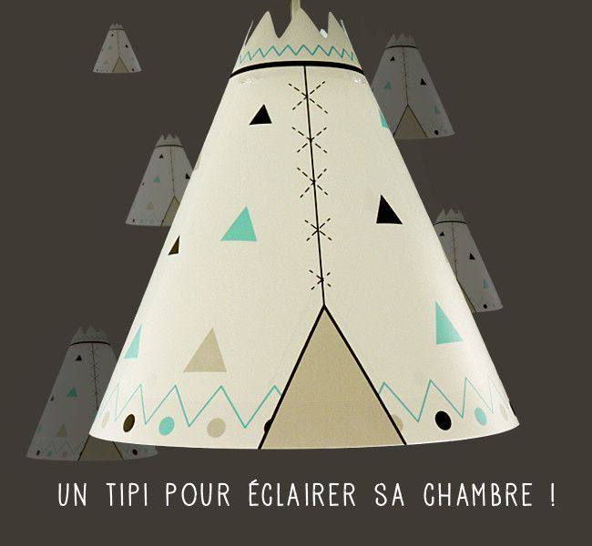 un tipi pour clairer sa chambre d 39 enfant luminaire. Black Bedroom Furniture Sets. Home Design Ideas