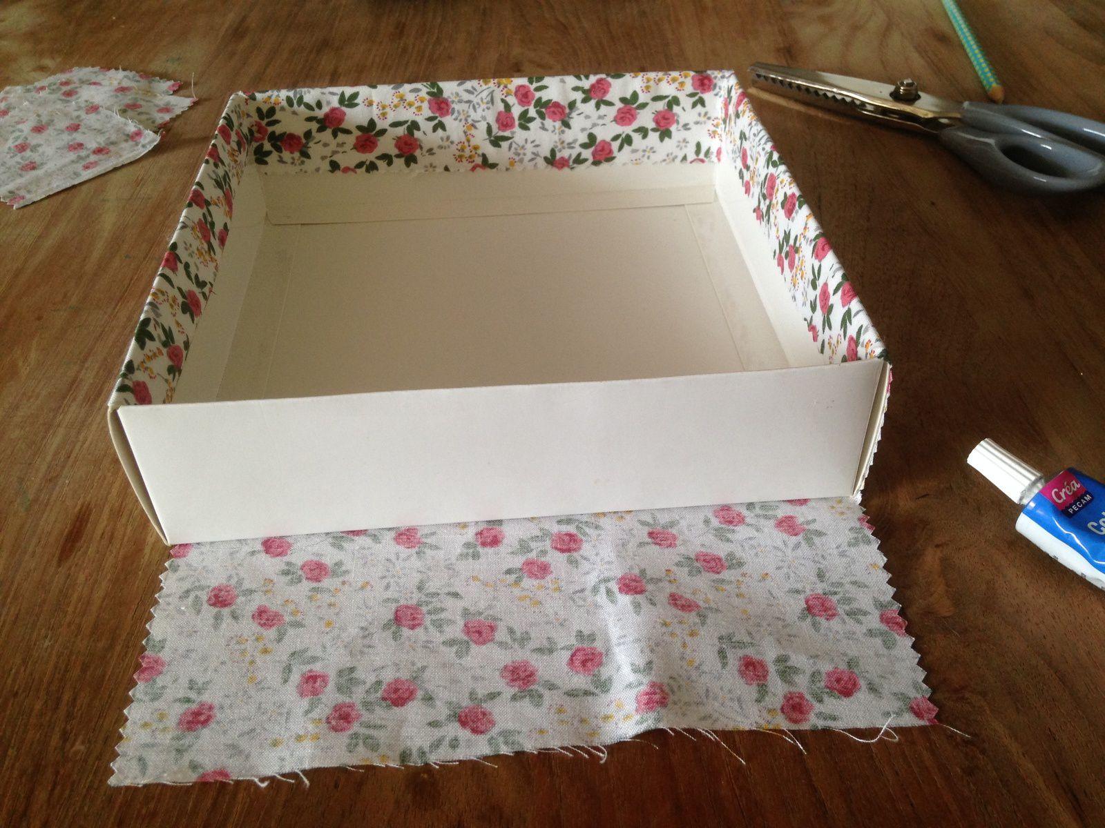 Comment Recouvrir Une Boite Avec Du Tissu