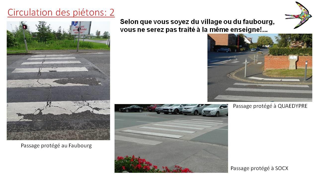 Feuilleton (suite) :  La circulation des piétons