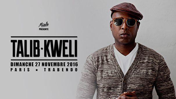 Agenda : Talib Kweli au Trabendo, le 27 novembre 2016