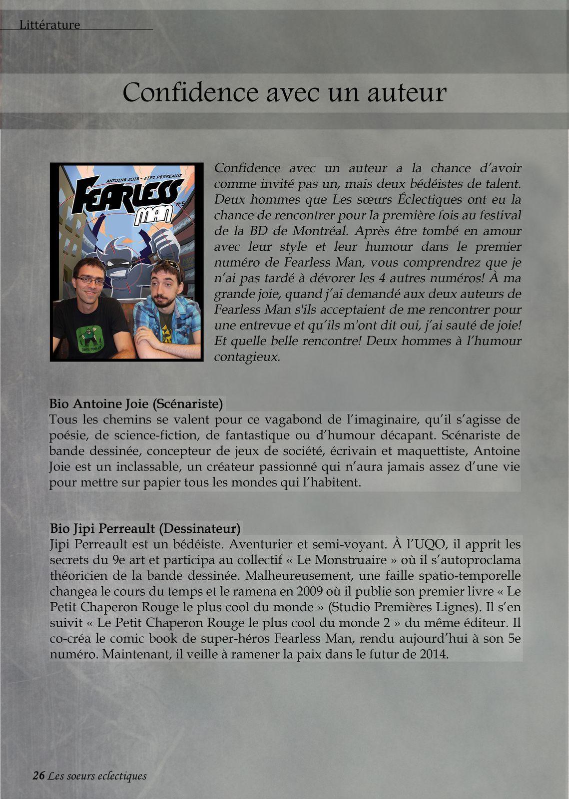 Antoine Joie et Jipi Perreault, pour Fearless Man
