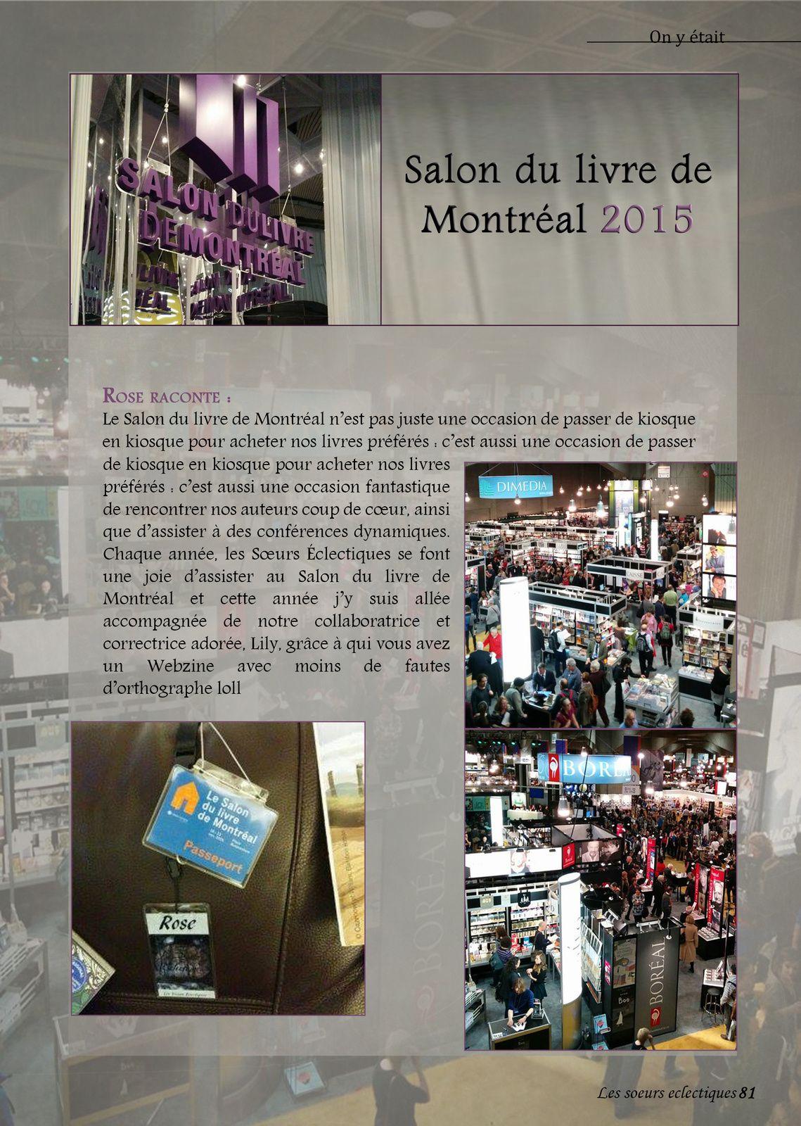 Salon du livre de Montreal 2015