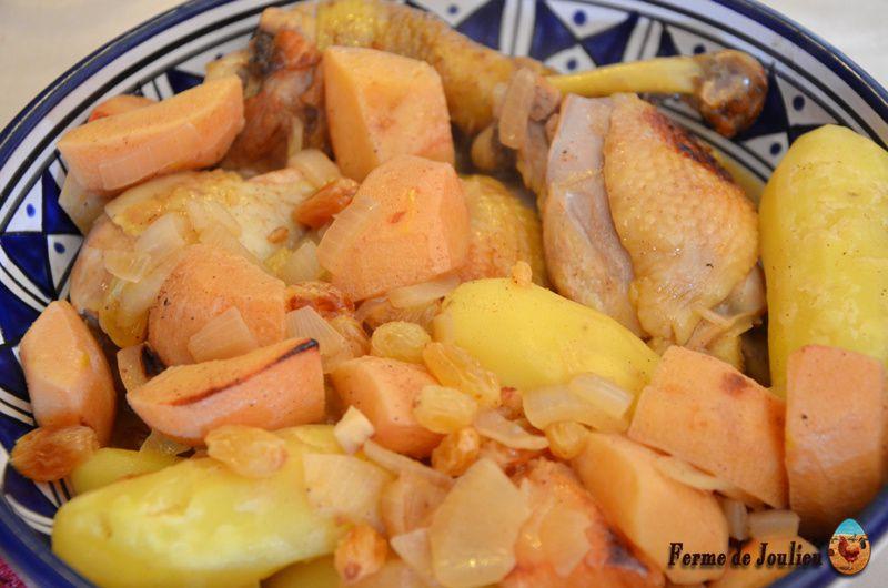 Recette : marmite de poulet aux coings