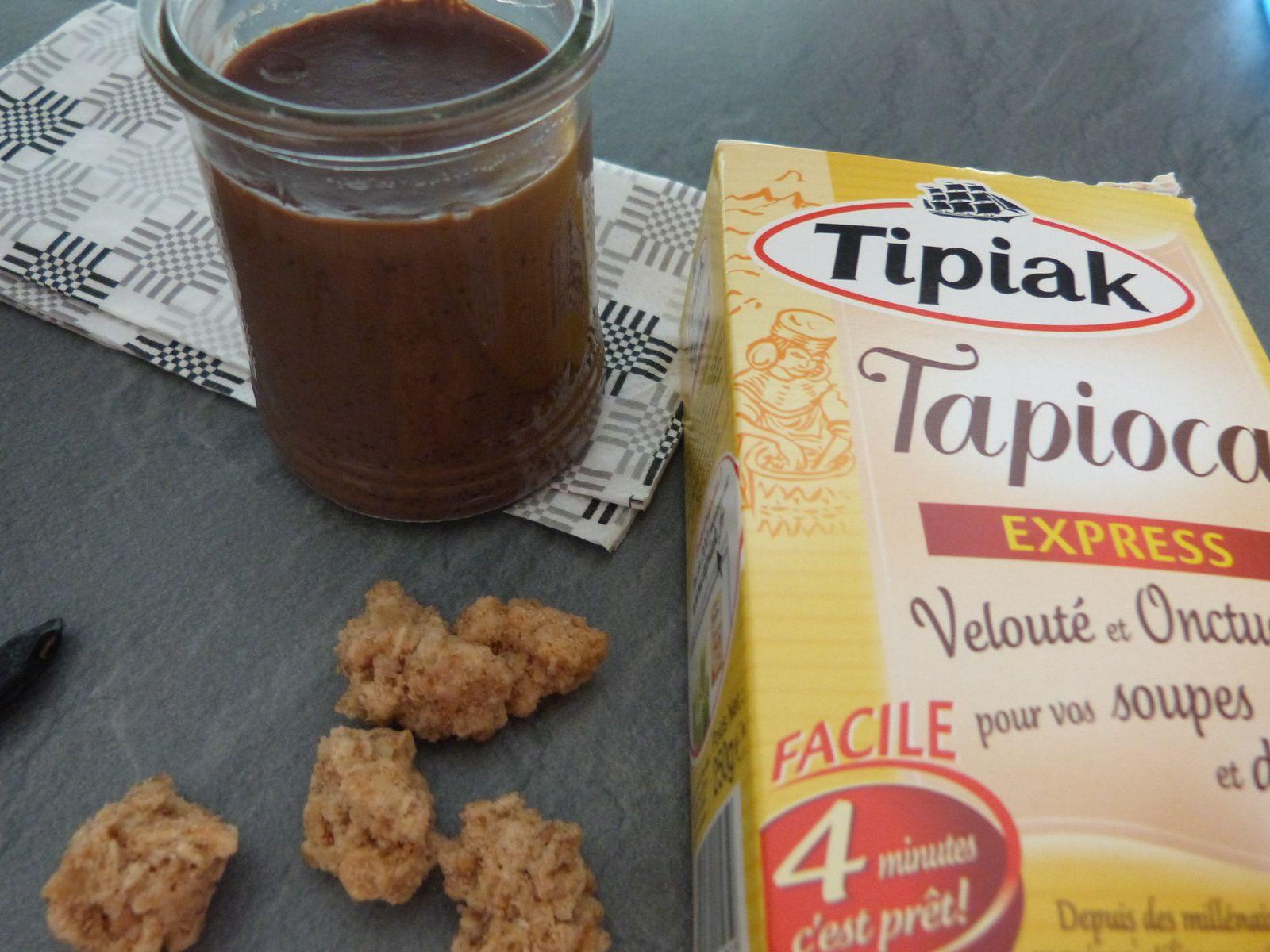 Crème de Tapioca au Chocolat et Amandes Soufflées, Parfumées à la Tonka