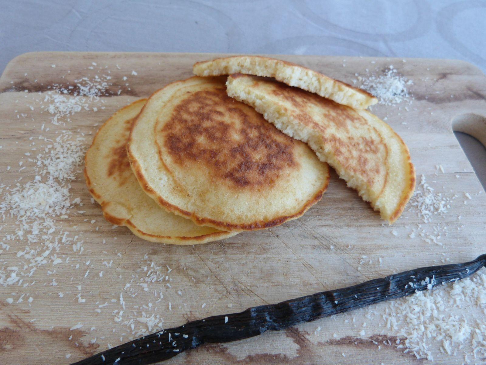 Pancakes à la Vanille Bourbon et Noix de Coco