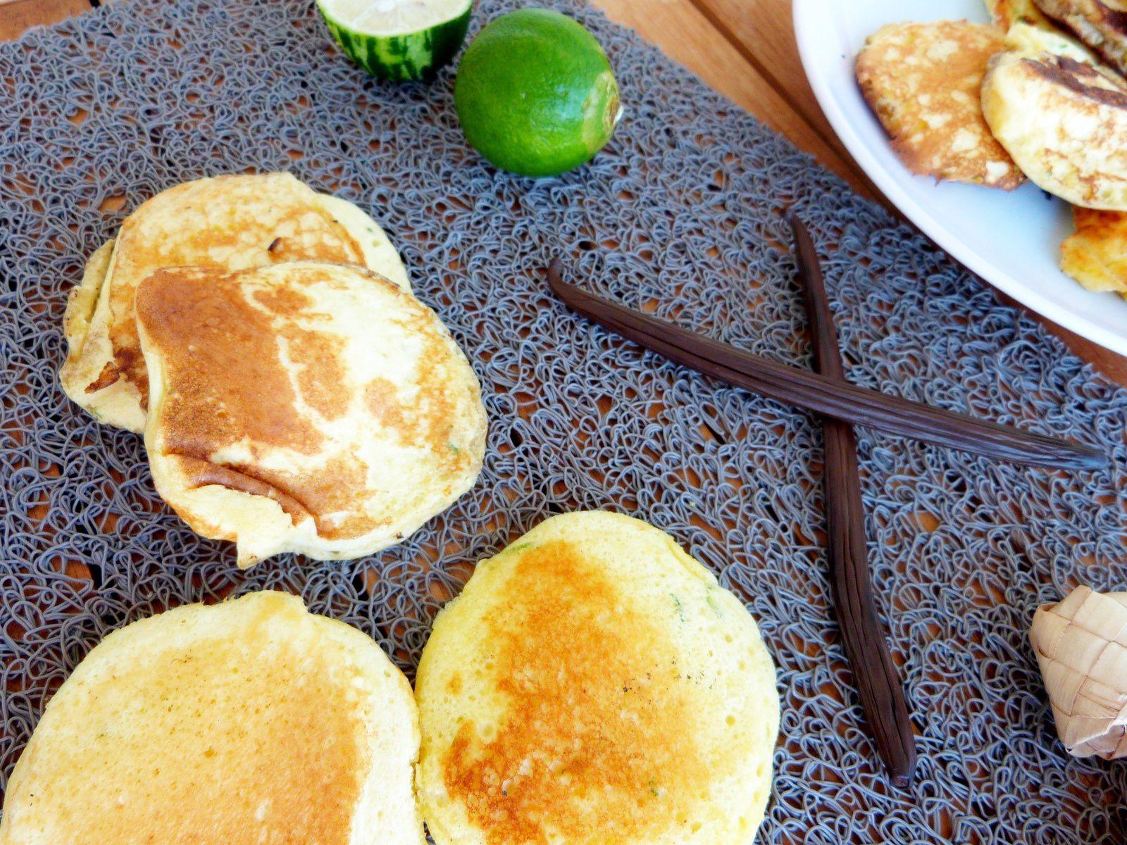 Pancakes au Citron Vert et à la Vanille Bleue