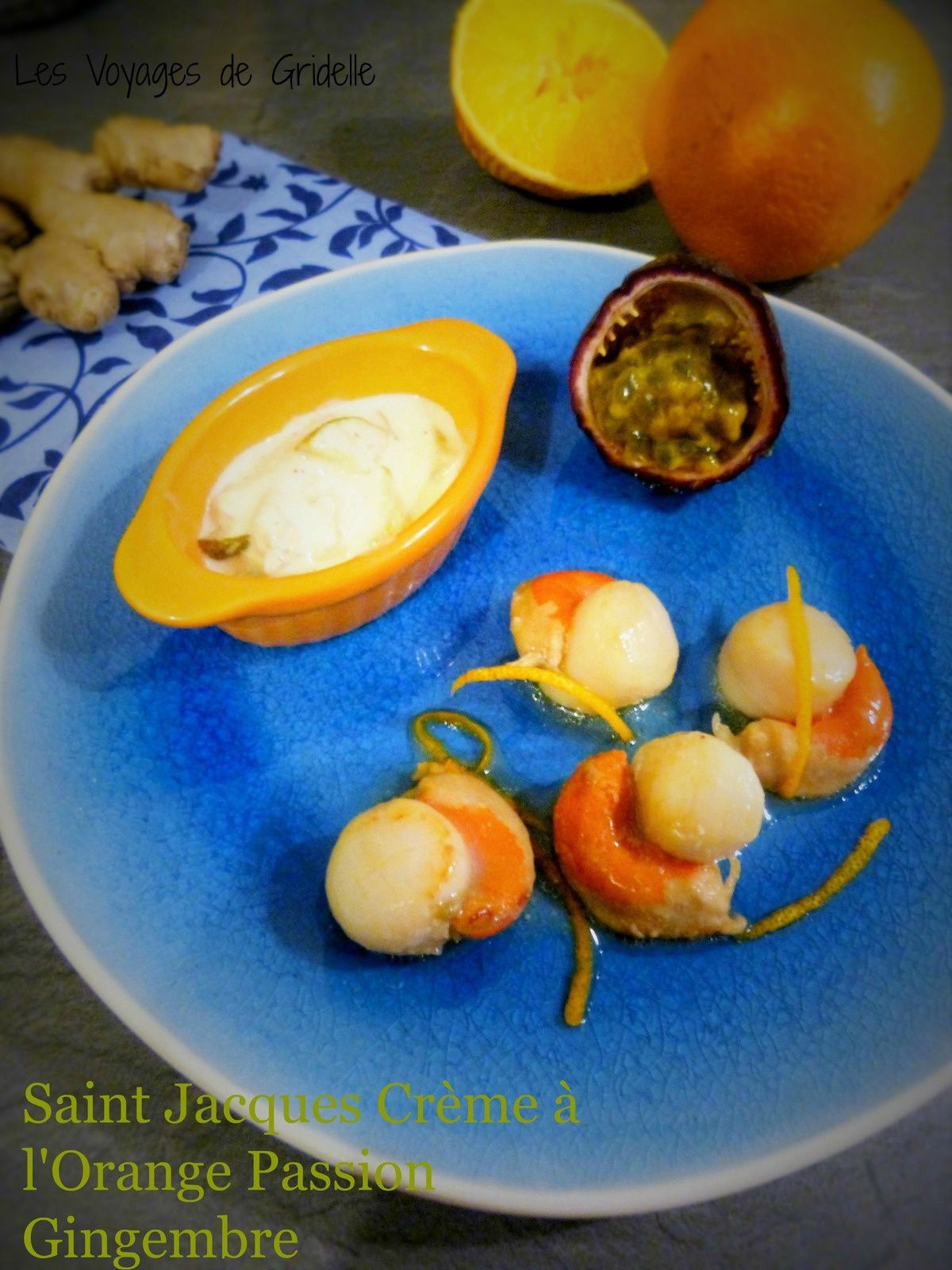 Saints Jacques Crème à l'Orange Passion Gingembre