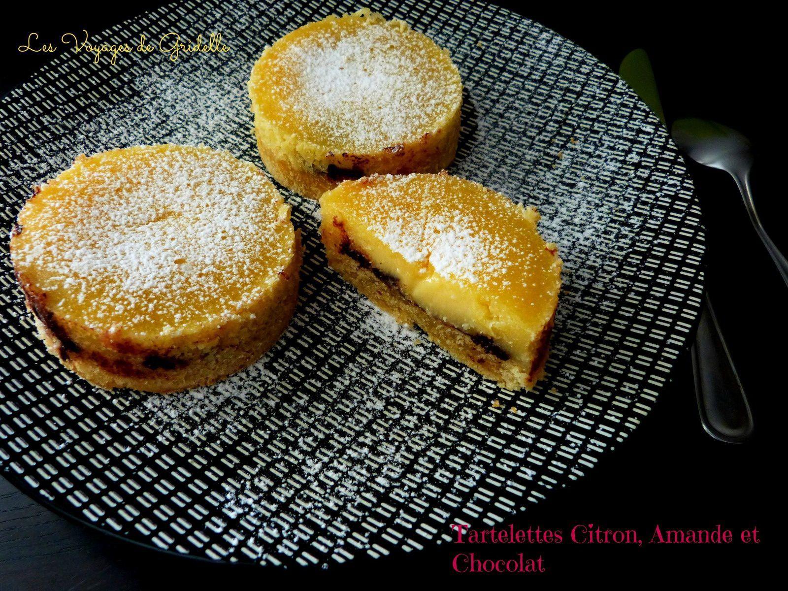 Tartelettes Citron Amande et Chocolat