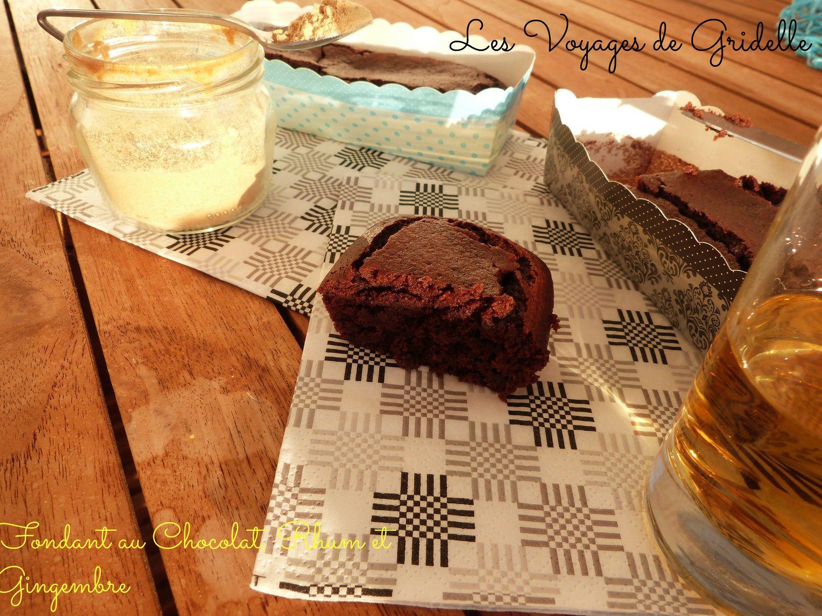 Fondant au Chocolat Rhum et Gingembre - Les Voyages de Gridelle