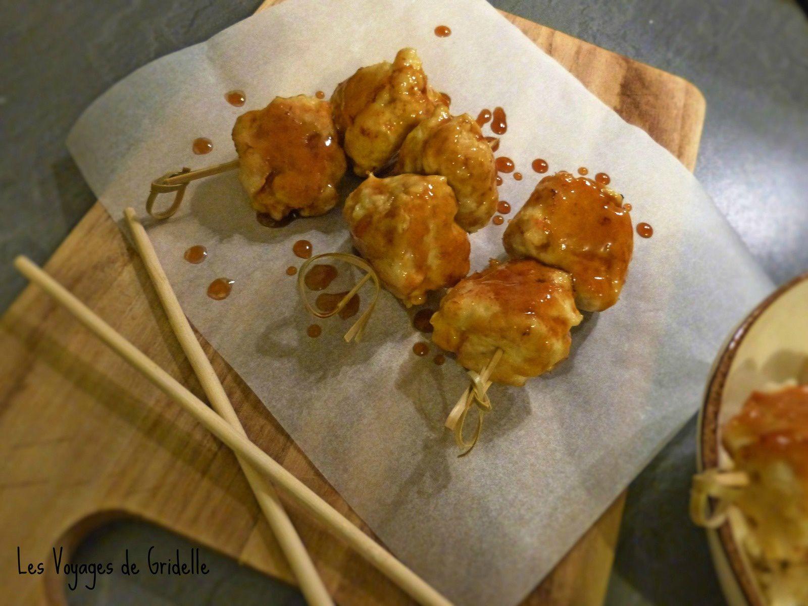 Boulettes de Poulet Sauce Teriyaki