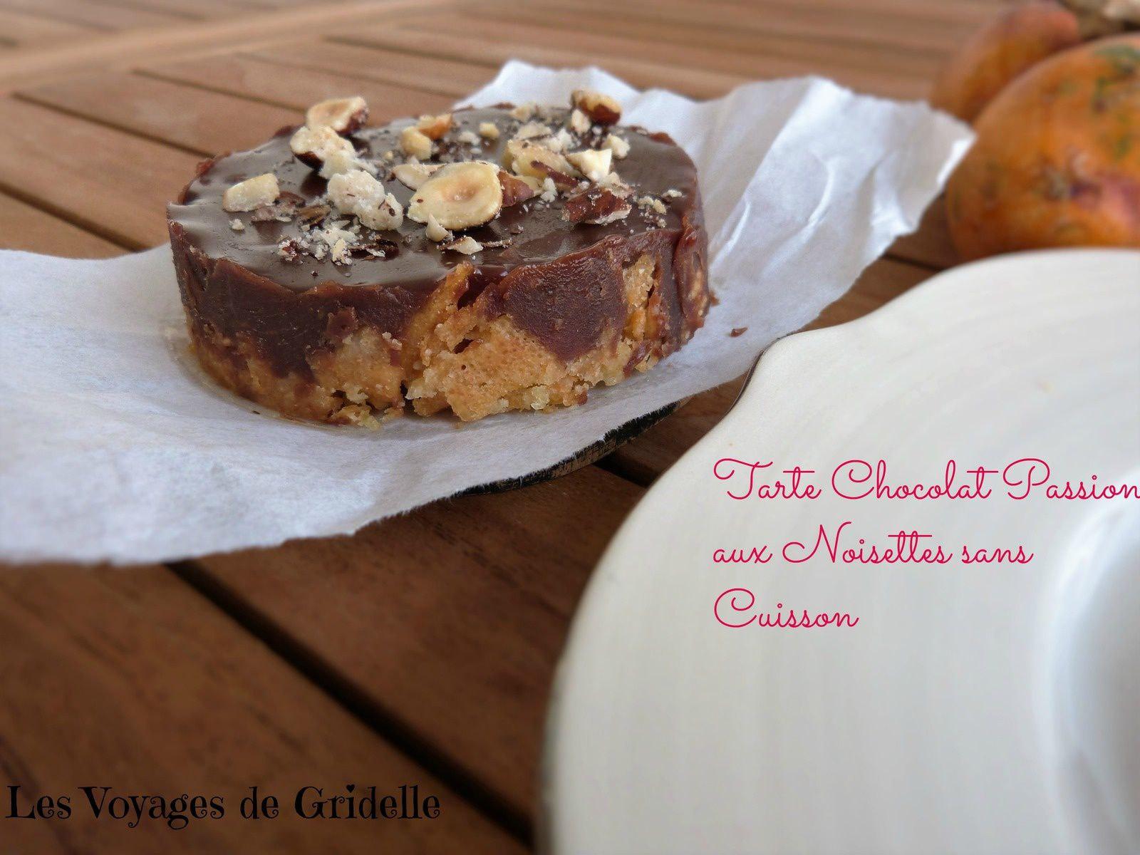 tarte chocolat passion aux noisettes sans cuisson les. Black Bedroom Furniture Sets. Home Design Ideas