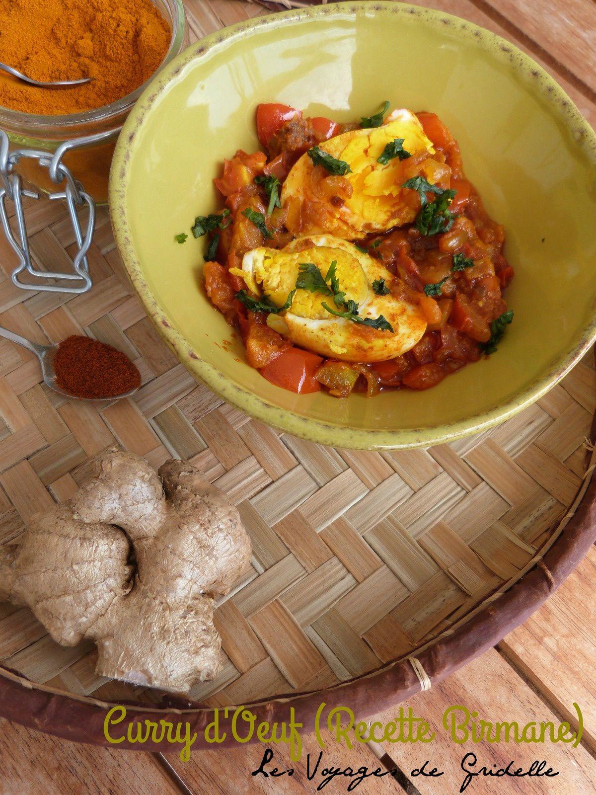 Curry d'Oeuf ( Recette Birmane)
