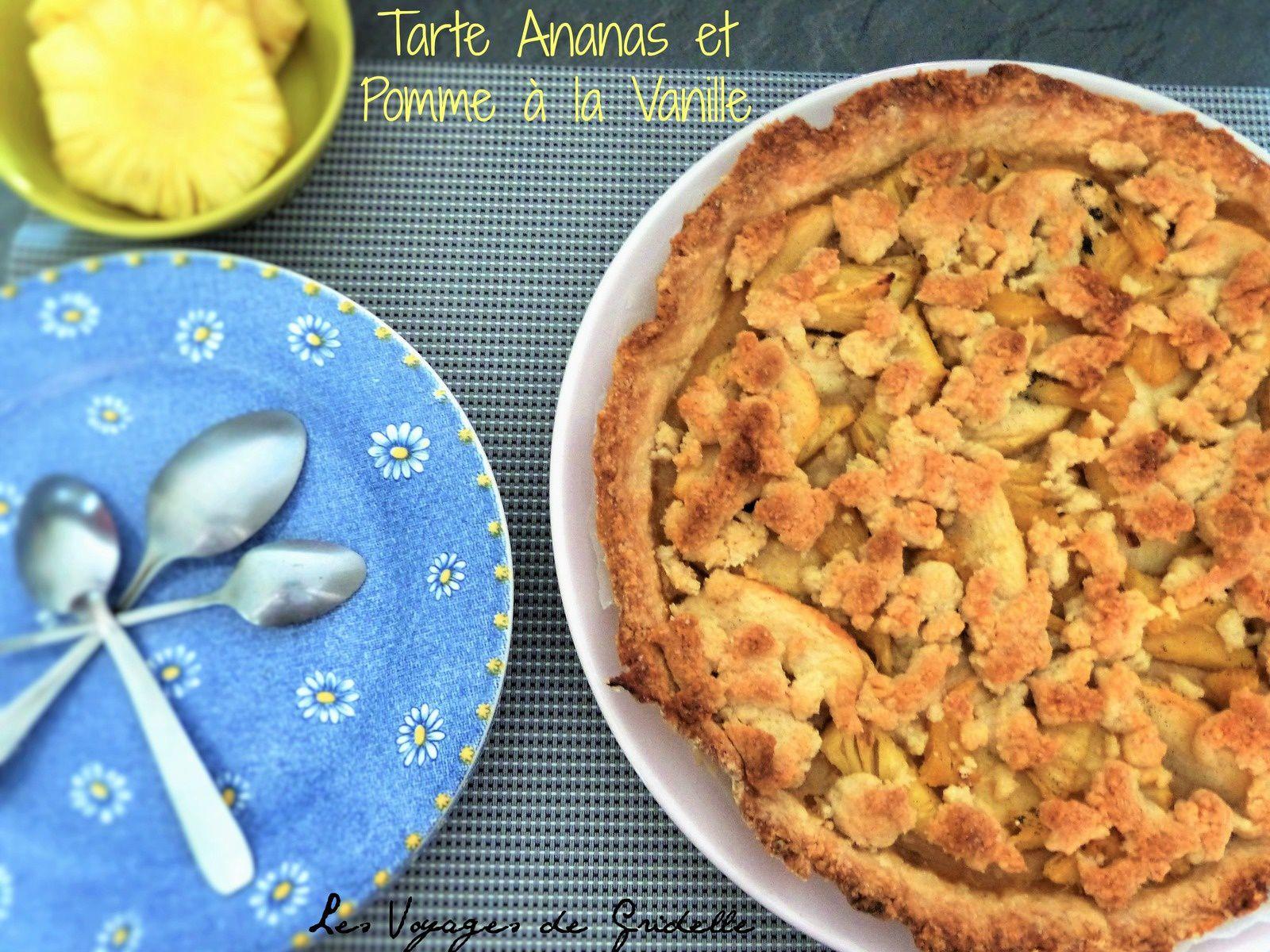 Tarte Ananas et Pomme à la Vanille