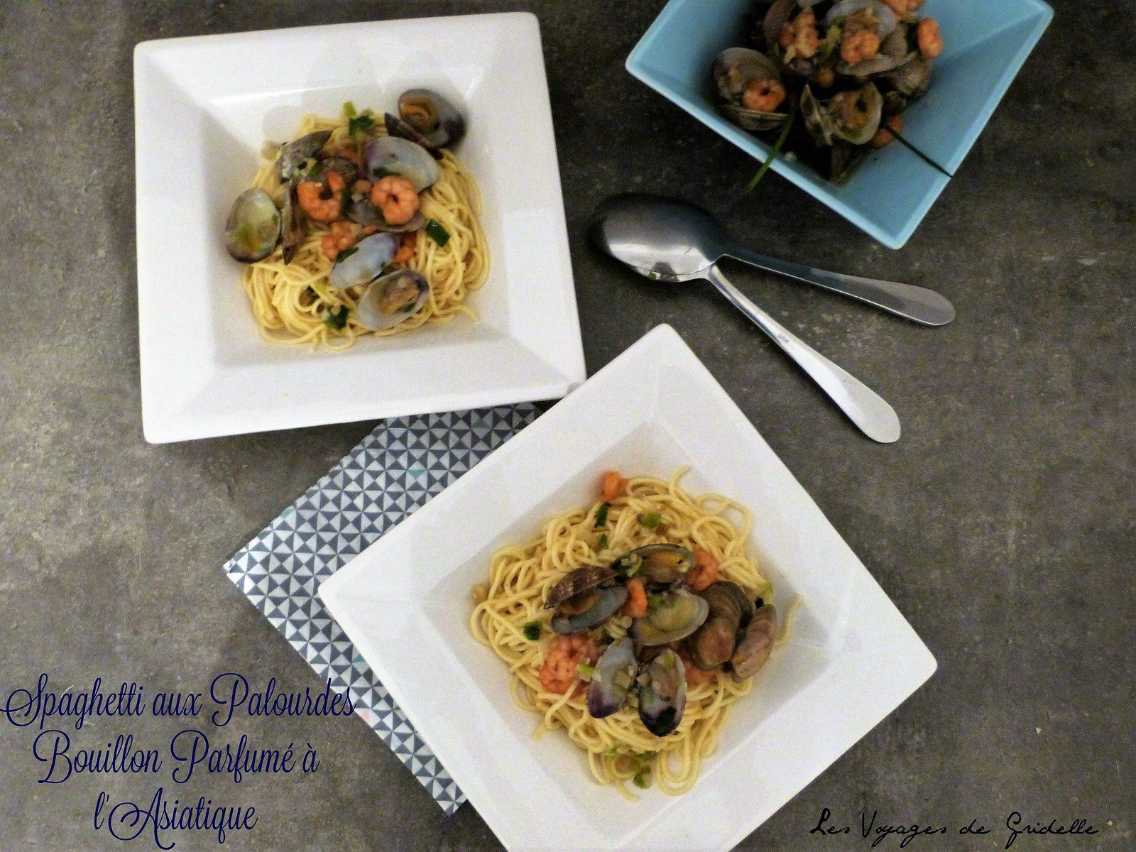 Spaghetti aux Palourdes, Bouillon Parfumé à l'Asiatique