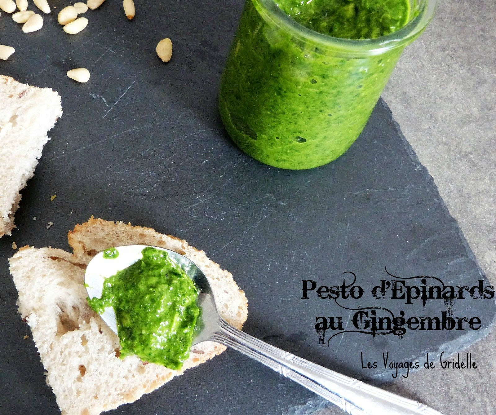 Pesto d'Epinards au Gingembre
