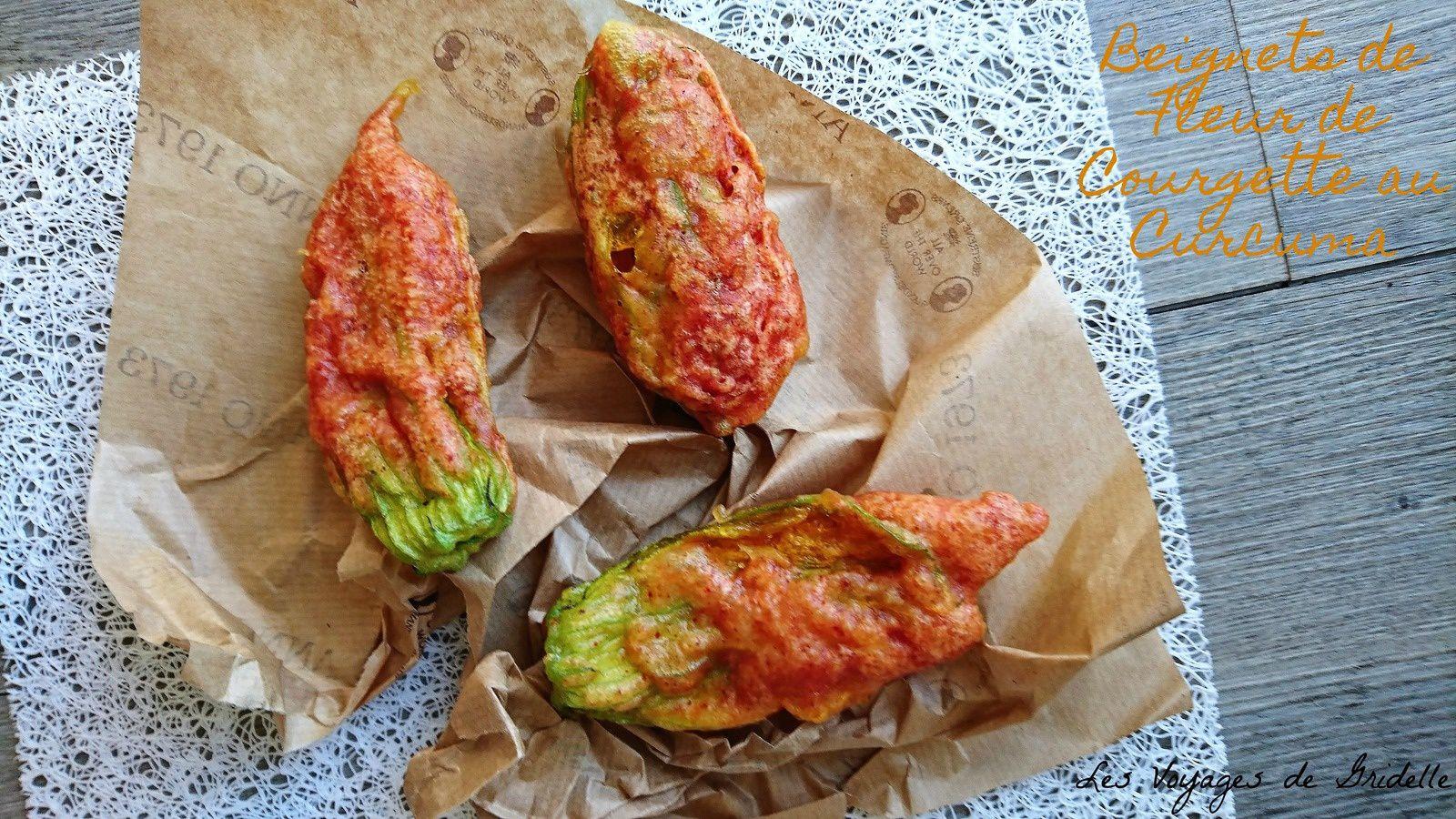 Beignets de Fleurs de Courgette au Curcuma