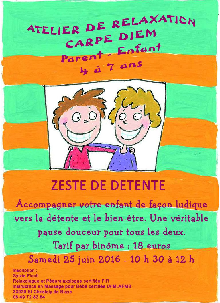 Atelier relaxation Parent-Enfant