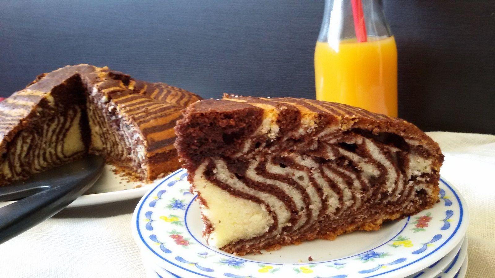 Gâteau zébré ou zébra cake